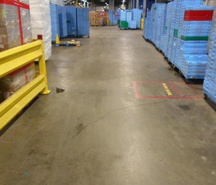 Fort Worth Warehouse Water Damage After