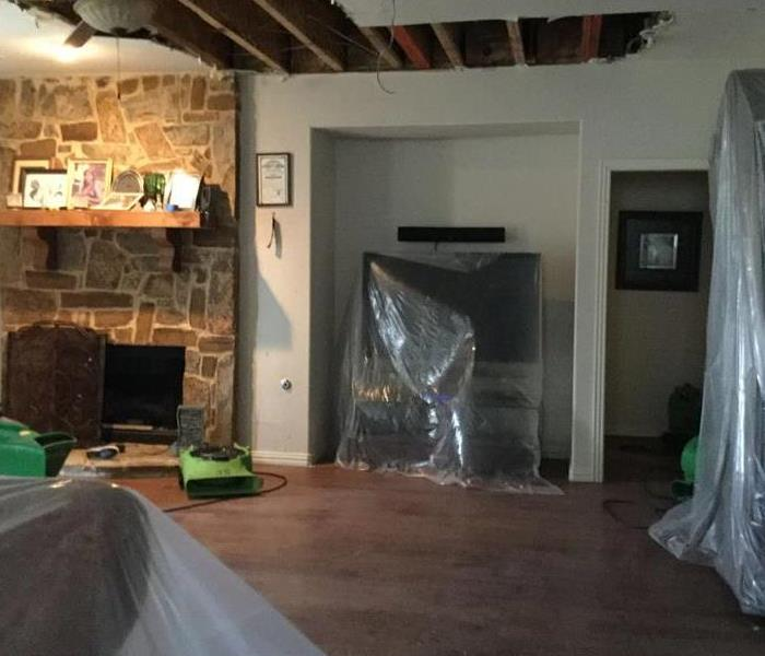 Attic Water Leak Causes Ceiling Collapse in Ennis, Texas After
