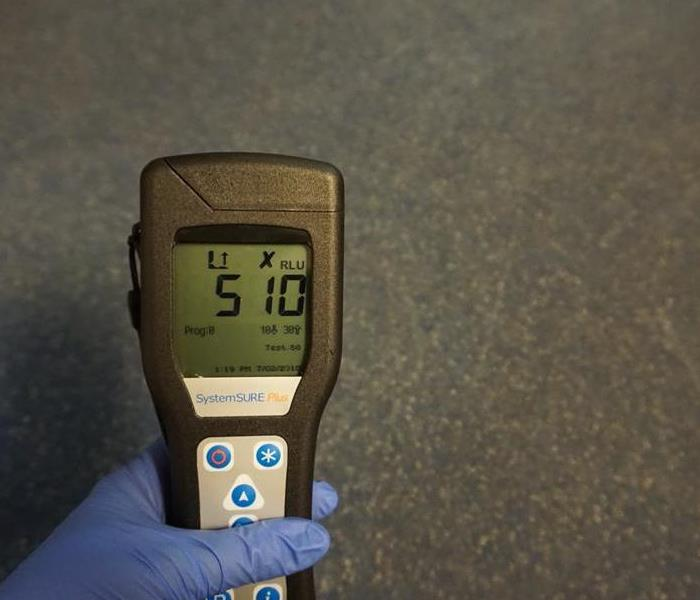 Contamination Level Test on Gym's Locker Room Floor in Dallas, Texas
