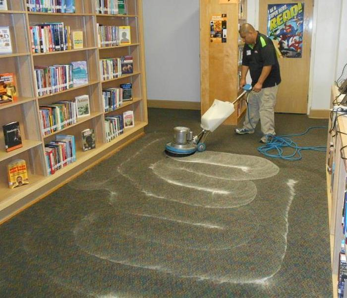 Industrial Carpet Cleaning at Dallas School