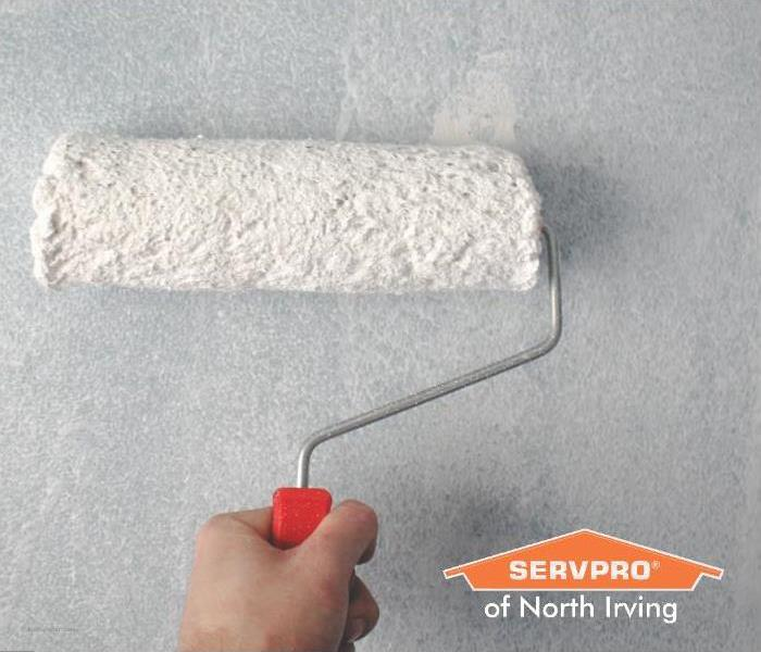 fix water stains on ceiling paint roller