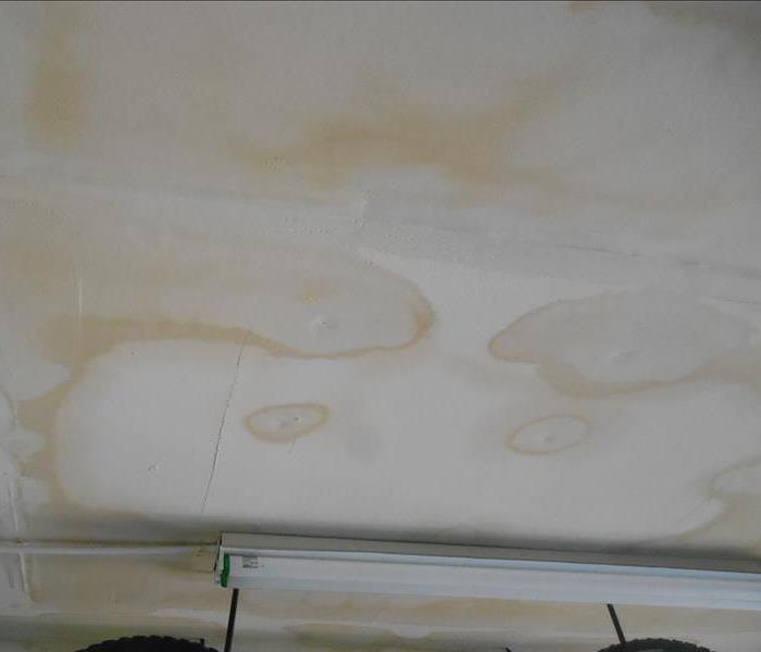 Brown Spot On Ceiling After Water Damage Servpro Of